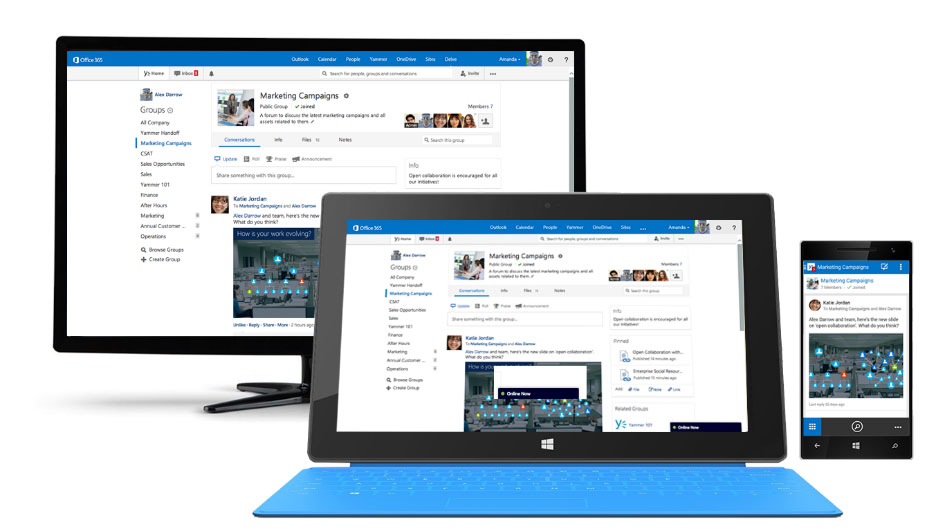 Computer mit SharePoint Communities